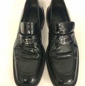 Gucci authentic made in italy 10d black dress shoe